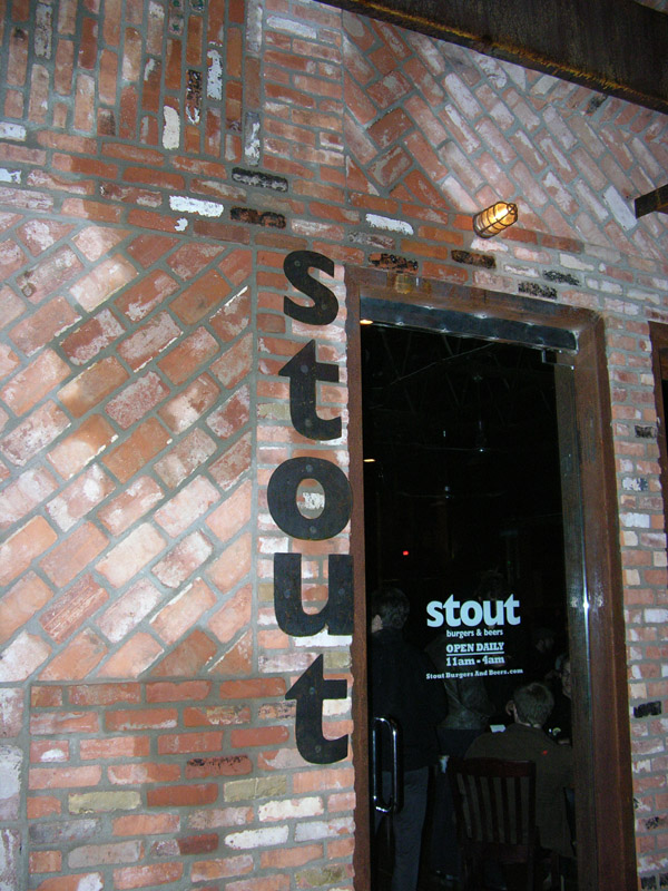 Stout bar in Los Angeles
