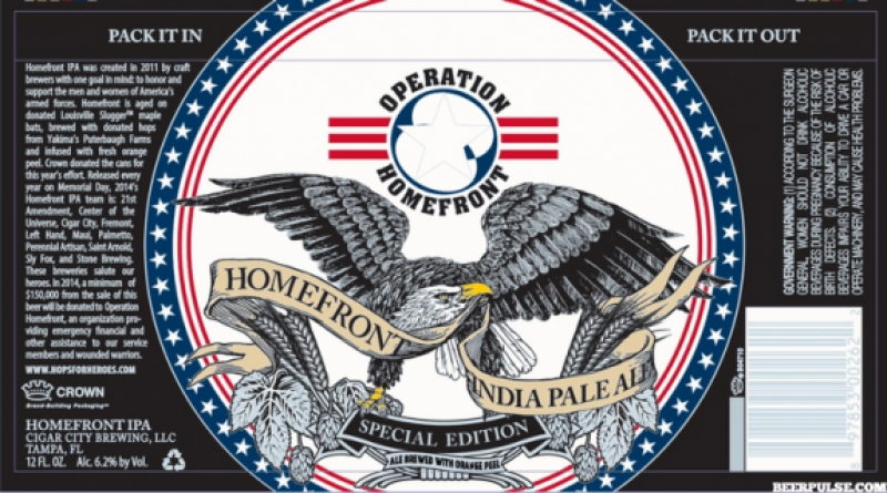 Cigar City Homefront IPA to be released on May 28th