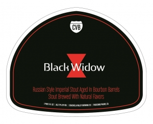 Coachella Valley Brewing Co announces the long await release of Black Widow, Russian Imperial Stout aged in Bourbon Barrels